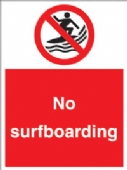 no surfboarding