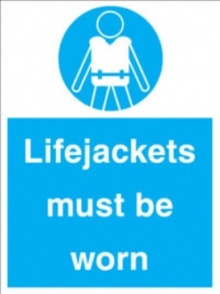 lifejackets must be worn
