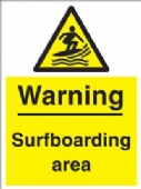 warning - surfboarding area