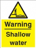 warning - shallow water