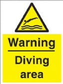 warning - diving area