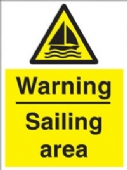 warning - sailing area