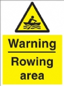warning - rowing area