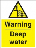 warning - deep water