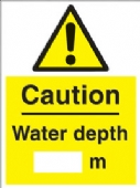 warning - water depth