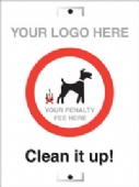 clean it up! add your own penalty fee only