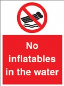 no inflatables in the water