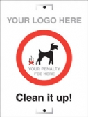 clean it up! ADD own penalty fee/ logo