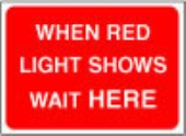 when red light shows
