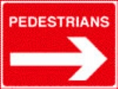 pedestrians right  white on red