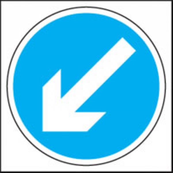 left diagonal arrow