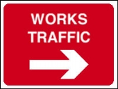 works traffic arrow right