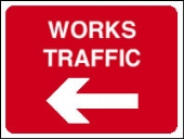 works traffic arrow left