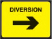 diverted traffic right