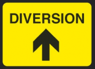 diverted traffic up