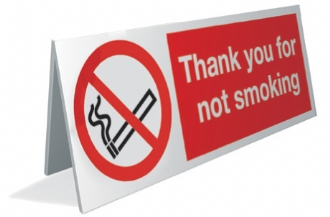 thank you for not smoking x4
