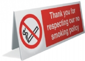 thank you for respect. no smoking pol. x4