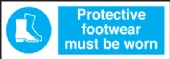 protective footwear must be worn