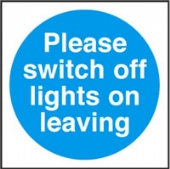 please switch off lights