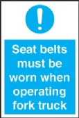 seat belts must be worn..