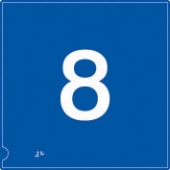no.8 (white & blue)