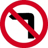no left turn without channel