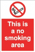 this is a no smoking area