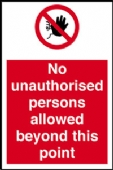 no unauthorised persons