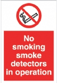 no smoking smoke detectors
