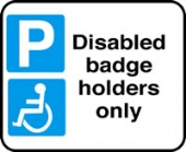 disabled parking only without channel