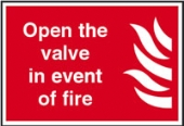 open the valve in event of fire