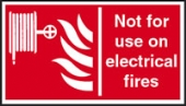 not for use on electrical fire
