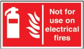 not for use on electtical fires