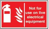 not for use on live electrical equipment