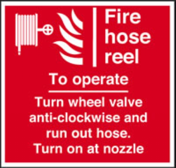 fire hose to operate