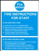 fire instructions to staff
