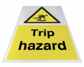 trip hazard floor sign
