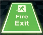 floor fire exit  - photoluminescent