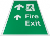 fire exit floor signs