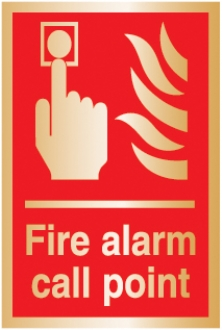 fire alarm call point (Brushed Aluminium)