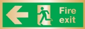 fire exit arrow left (Brushed Aluminium)