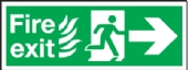 fire exit/running man arrow right