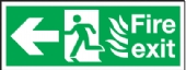 fire exit/running man arrow left