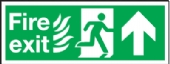 fire exit/running man arrow up