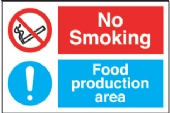 no smoking - food preperation area