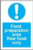 food preperation area - raw food only