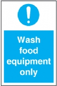 wash food equipment only