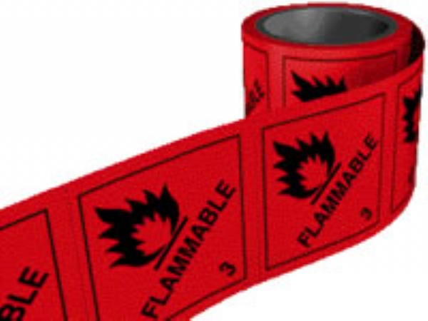 flammable 3  per roll