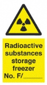 radioactive substances - storage freezer