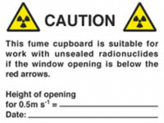 caution fume cupboard